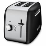 KitchenAid KMT2115OB Onyx Black 2-Slice Long Slot Toaster with Manual Lift Lever