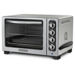 KitchenAid KCO234CCU Contour Silver Convection Countertop Oven with Black Handle