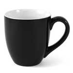 Oggi Black Porcelain Barrel Mug
