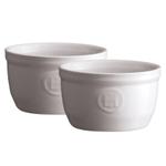 Emile Henry Flour Ceramic 5.1 Ounce #9 Ramekin, Set of 2