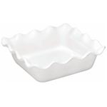 Emile Henry Flour Ceramic 1.8 Quart Square Ruffled Baking Dish