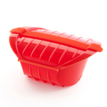 Lekue Red Silicone 1-2 Person Steam Case with Tray