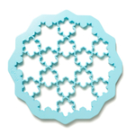 Lekue Blue Snowflake Cookie Cutter Puzzle