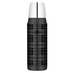 Thermos Heritage Grey Plaid 16 Ounce Compact Bottle