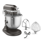 KitchenAid KSMC895DP Commercial Series Dark Pewter 8 Quart Bowl Lift Stand Mixer with Stainless Steel Bowl Guard