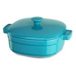 KitchenAid KCLI40CRCC Streamline Curacao Blue Cast Iron 4-Quart Casserole Dish with Lid