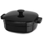 KitchenAid KCLI40CROB Streamline Onyx Black Cast Iron 4-Quart Casserole Dish with Lid