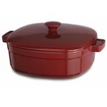 KitchenAid KCLI60CRER Streamline Empire Red Cast Iron 6-Quart Casserole Dish with Lid