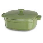 KitchenAid KCLI60CRKI Streamline Kiwi Cast Iron 6-Quart Casserole Dish with Lid