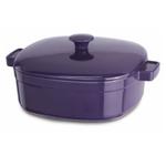 KitchenAid KCLI60CRPZ Streamline Plum Zen Cast Iron 6-Quart Casserole Dish with Lid