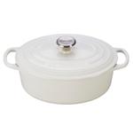 Le Creuset Signature White Enameled Cast Iron 2.75 Quart Oval Dutch Oven