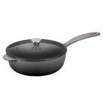 Le Creuset Oyster Enameled Cast Iron 2.25 Quart Saucier Pan