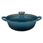 Le Creuset Marine Enameled Cast Iron 1.5 Quart Soup Pot