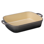 Le Creuset Signature Oyster Enameled Cast Iron 7 Quart Rectangular Roaster