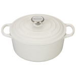 Le Creuset White Signature Enameled Cast Iron 4.5 Quart Round Dutch Oven