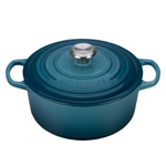 Le Creuset Marine Signature Enameled Cast Iron 4.5 Quart Round Dutch Oven