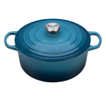 Le Creuset Marine Signature Enameled Cast Iron 5.5 Quart Round Dutch Oven