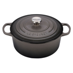 Le Creuset Oyster Signature Enameled Cast Iron 5.5 Quart Round Dutch Oven