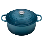Le Creuset Signature Marine Enameled Cast Iron 7.25 Quart Round Dutch Oven