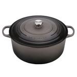 Le Creuset Signature Oyster Enameled Cast Iron 13.25 Quart Round French Oven