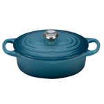 Le Creuset Signature Marine Enameled Cast Iron 1 Quart Oval French Oven