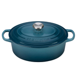 Le Creuset Signature Marine Enameled Cast Iron 2.75 Quart Oval Dutch Oven
