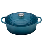 Le Creuset Signature Marine Enameled Cast Iron 5 Quart Oval Dutch Oven