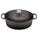Le Creuset Signature Oyster Enameled Cast Iron 5 Quart Oval Dutch Oven