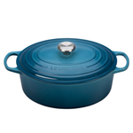 Le Creuset Signature Marine Enameled Cast Iron 6.75 Quart Oval Dutch Oven