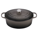 Le Creuset Signature Oyster Enameled Cast Iron 6.75 Quart Oval Dutch Oven