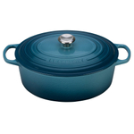 Le Creuset Signature Marine Enameled Cast Iron 8 Quart Oval Dutch Oven