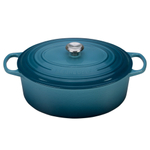 Le Creuset Signature Marine Enameled Cast Iron 9.5 Quart Oval Dutch Oven