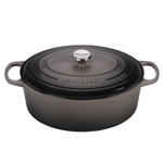 Le Creuset Signature Oyster Enameled Cast Iron 9.5 Quart Oval Dutch Oven