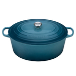 Le Creuset Signature Marine Enameled Cast Iron 15.5 Quart Goose Pot