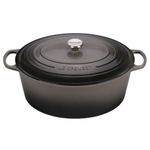 Le Creuset Signature Oyster Enameled Cast Iron 15.5 Quart Goose Pot