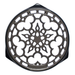 Le Creuset Oyster Enameled Cast Iron 9 Inch Deluxe Round Trivet