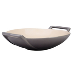 Le Creuset Oyster Stoneware 28 Ounce Wok Dish