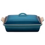 Le Creuset Marine Heritage Stoneware Covered 4 Quart Rectangular Casserole Dish