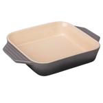 Le Creuset Oyster Stoneware 2.2 Quart Square Baking Dish