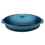 Le Creuset Marine Stoneware 3.75 Quart Covered Oval Casserole Dish