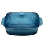 Le Creuset Marine Stoneware Covered 2.75 Quart Square Casserole Dish