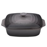 Le Creuset Oyster Stoneware Covered 2.75 Quart Square Casserole Dish