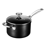 Le Creuset Toughened Steel 3 Quart Saucepan with Glass Lid and Helper Handle