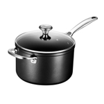 Le Creuset Toughened Steel 4 Quart Saucepan with Glass Lid and Helper Handle