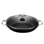 Le Creuset Toughened Steel 4 Quart Shallow Braiser with Glass Lid