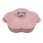 Le Creuset Hibiscus Enameled Cast Iron Shallow Flower Shaped Cocotte