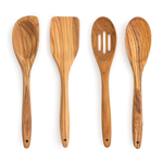 RSVP Olive Wood 4 Piece Utensil Set