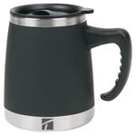 Trudeau Umbria Black 15 Ounce Insulated Desk Mug