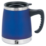 Trudeau Umbria Blue 15 Ounce Insulated Desk Mug
