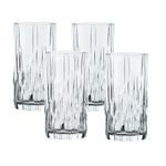 Nachtmann Shu Fa Fine Crystal Long Drink Glass, Set of 4